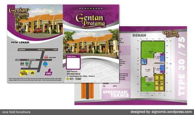 desain proyek brosur perumahan signomic